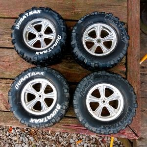 Set of 4 Large RC Duratrax Tires wheels